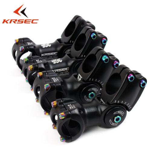 US KRSEC Bike Stem 25.4//31.8*90//110mm 60 Degree AL+Titanium-plated Stainless 1PC