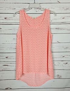 Pleione Anthropologie Women's Sz S Small Pink Sleeveless Spring Summer Top Tank
