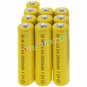 10-Piles-AA-rechargeables-NiCd-Yellow-2800mAh-1-2v-Garden-Solar-Light-Lamp