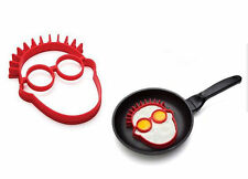 Face Shaped Halloween Egg, Pancake or Cookie, Silicone Mold NEW