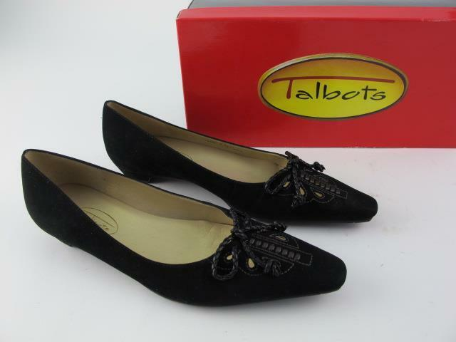 Talbots Nuevo Aspen 2 Cuero Negro Arco Arco Arco  94 para mujer 6 Mocasines Mocasines zapatos sin taco  Entrega directa y rápida de fábrica