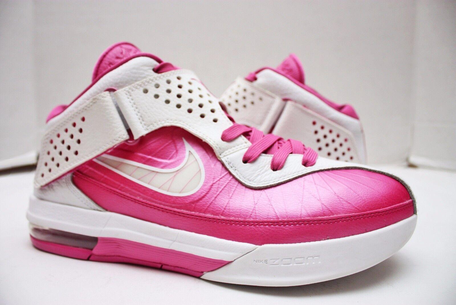 Nike lebron soldato / 5 dimensioni 10 - bianco - rosa - il cancro al seno - 454131 601