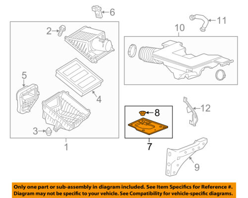 GM OEM Air Cleaner Box Housing-Mount Bracket Support 23114339