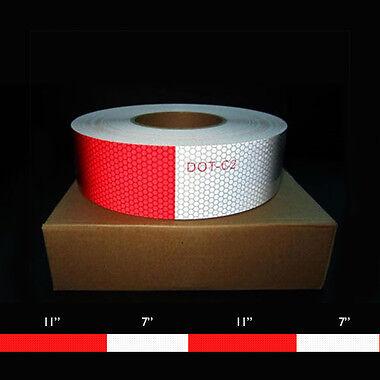 "1 Pc-3M Scotchlite Diamond Conspicuity Reflective Tape 2/""X18/"" Red//White trailer"