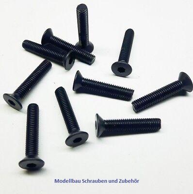 schwarz 50 Stück Senkkopfschraube M3x6mm Stahl hochfest 10.9 DIN 7991