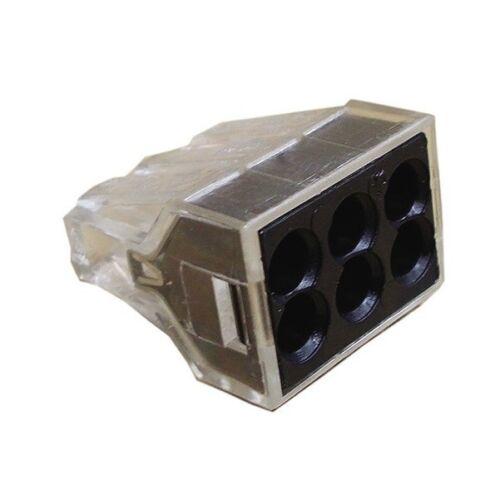 Wago 773-166 50-Box 6x 12 AWG Max J-Box Pushwire Connectors 29290