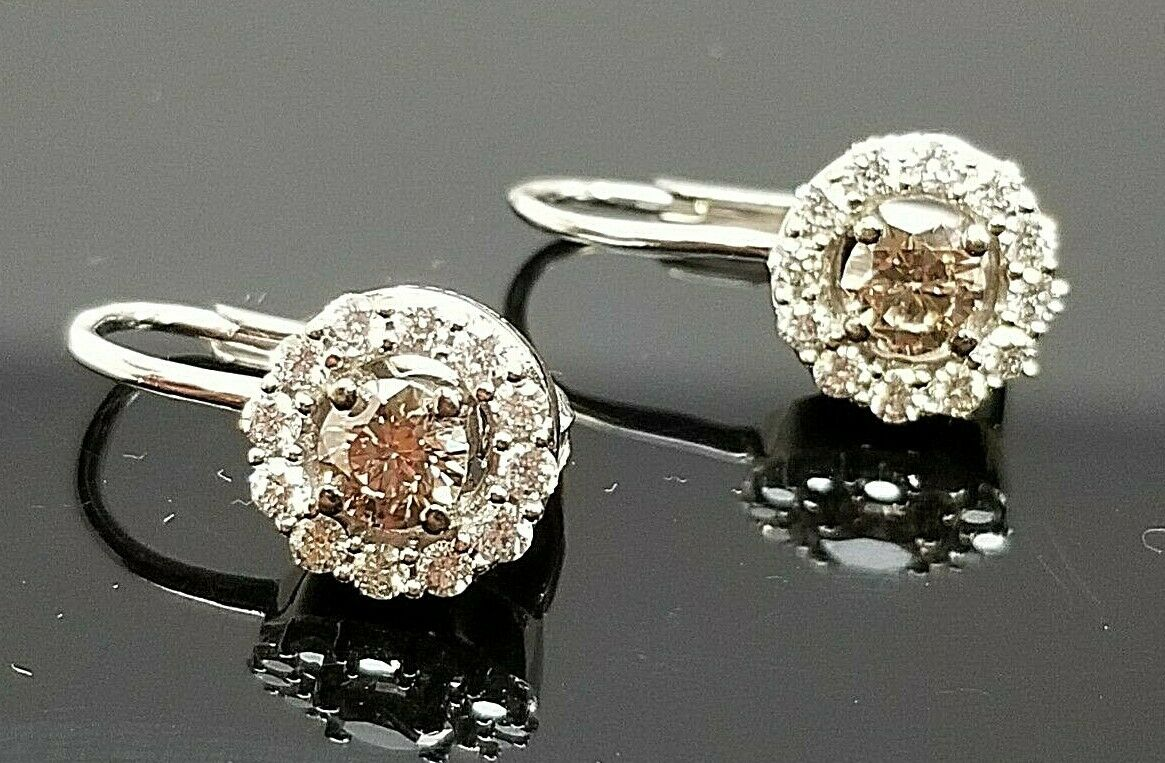 95058fda7315b 14K - VIAN LE CHOCOLATE gold EARRINGS DIAMOND WHITE & dfeq175491249 ...