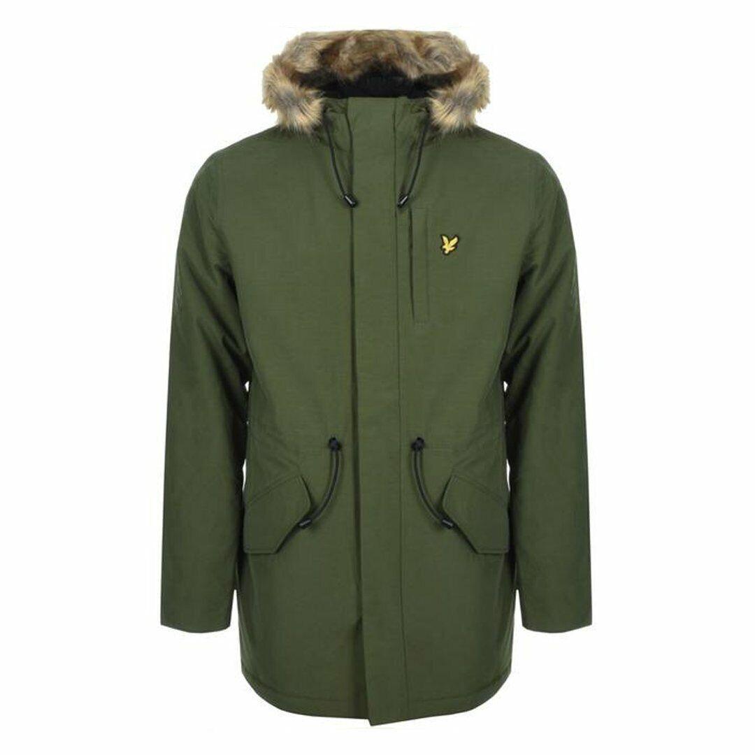 Lyle & Scott Winter Weight Microfleece Lined Parka BNWT Designer Mens Coat