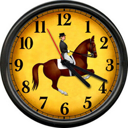 Horse Equestrian English Dressage Jacket Rider Costume Hunt Club Wall Clock