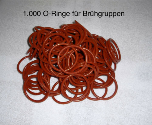 1000 Piece O-Ring for Jura Krups AEG brüheinheit Brühgruppe in Premium Quality