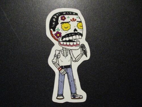 """FREDDY MERCURY Queen MUERTO Art Sticker Print 4/"""" DIA DE LOS muertos JOSE PULIDO"""