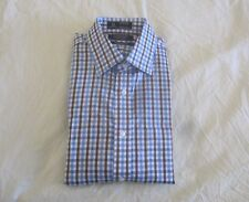 Nordstrom Smartcare Traditional Plaid Men's Dress Shirt Brown Toffee 15|35 $69.5