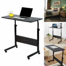 Rolling Computer Desk Adjustable Portable Laptop Writing Study Table Home Office