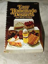 1979 Easy Homemade Desserts with JELL-O Pudding Cook Booklet 96 pages