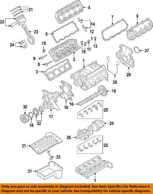 ford oem 2003 excursion engine cylinder head gasket 3c3z6051cb ebayford oem 2003 engine cylinder head gasket 3c3z6051cb