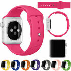 Sports Silicone Bracelet Strap Band Replacement For Apple Watch 38/42mm QW