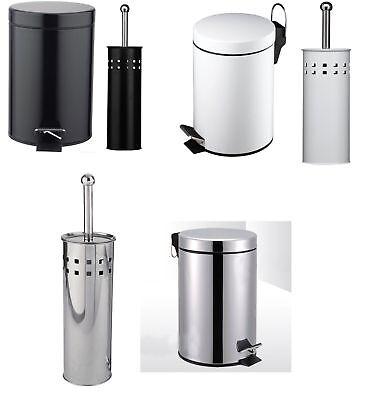 3l Litre Toilet Step Pedal Bin & Brush Holder Attractive Dome Design Set Of 2 Factory Direct Selling Prijs