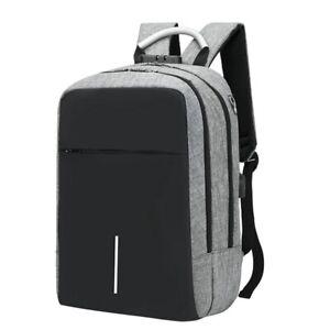 USB-Cargando-Mochila-Para-Laptop-15-6-Pulgadas-Anti-Robo-Impermeable-Bolsa-I8I2