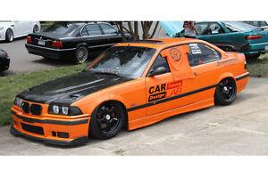 Details About Vis 92 98 Bmw 3 325 328 M3 2d Carbon Fiber Hood Euro R E36