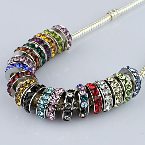 10 Pieces Czech Crystal Round Ring Big Hole Spacer European Charm Beads 10mm