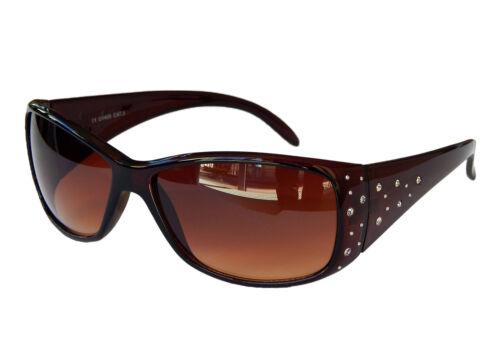 Damenbrille Sonnenbrille Pornobrille mit Strass-Steinen Schicke Brille M 39