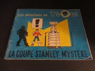 1962 Les Aventure De Ti Oui La Coupe Stanley Mystere Montreal Canadiens Rare Ebay