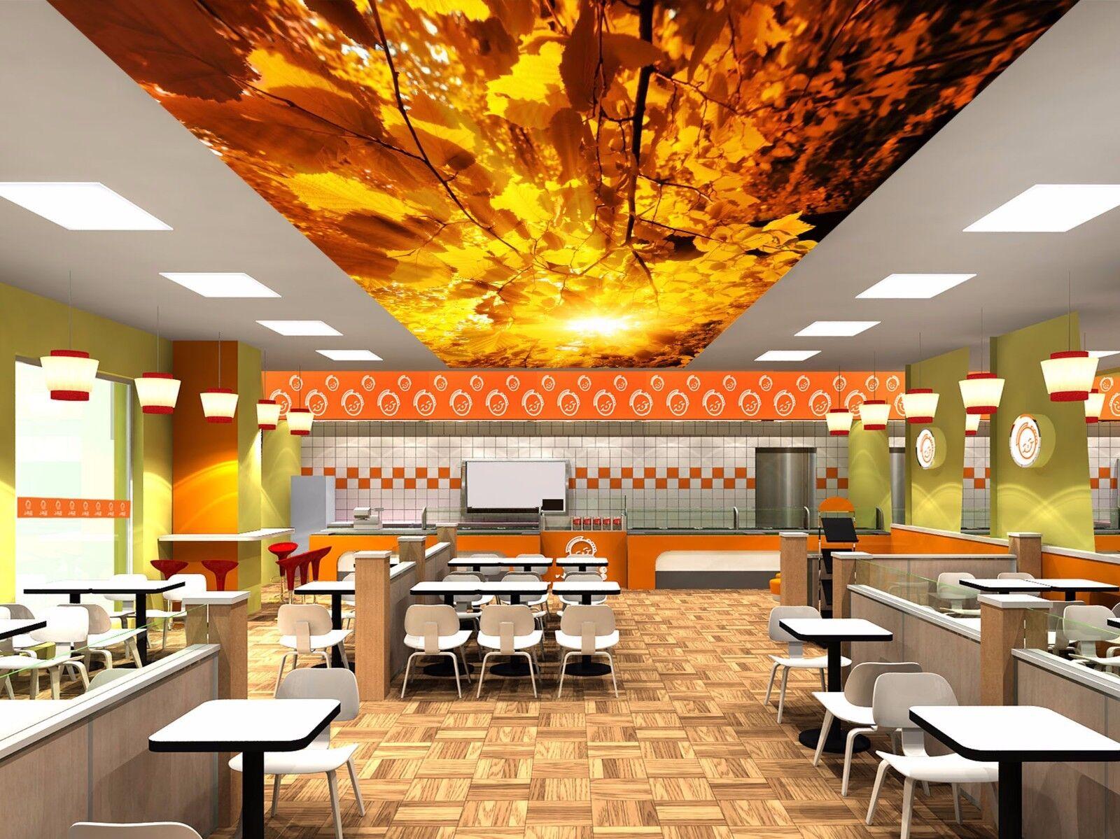 3D Sun golden Leaf 8 Ceiling WallPaper Murals Wall Print Decal Deco AJ WALLPAPER