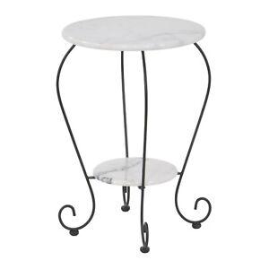 Gartentisch Beistelltisch Marmor Tisch 59 Cm Bistrotisch Stehtisch