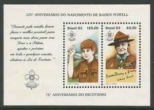 Bresil-1982-Baden-Powelll-Miniature-Feuille-SG-MS1969-Neuf-Sans-Charniere
