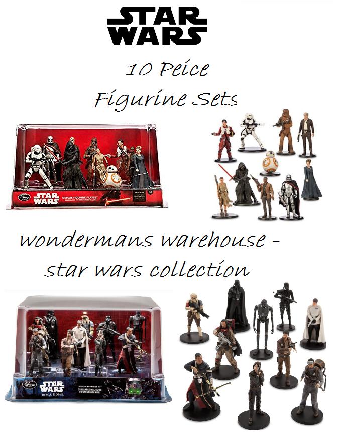 Star - wars - deluxe - 10 stück figur playset - rogue eins   die kraft erwacht - neue