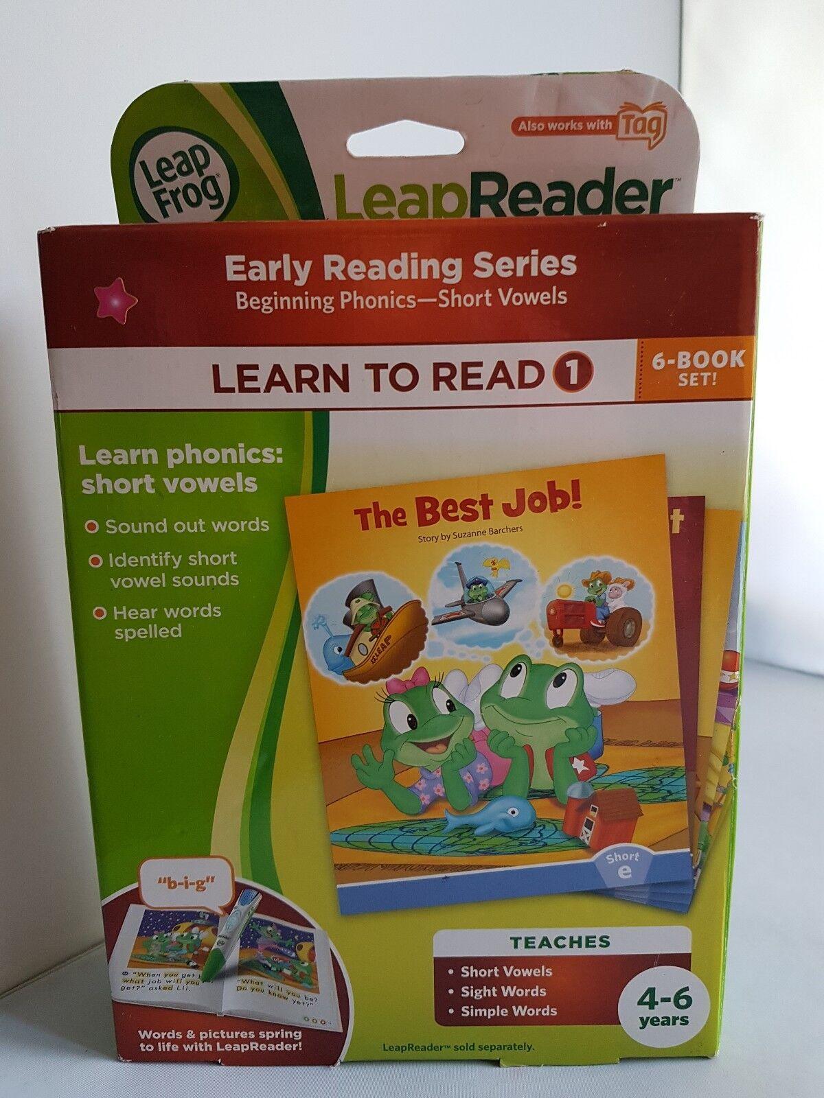 Rare LeapFrog - LeapReader - Learn to Read Phonics Book Set 1  Short Vowels (C4)
