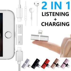 Dual-Lightning-Jack-Audio-Adapter-Cable-For-IPhone7-8-X-For-IOS-2-In-1-Headset