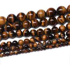 Natural-Tiger-039-s-Eye-Gemstone-Round-Loose-Spacer-Beads-4mm-6mm-8mm-10mm-12mm