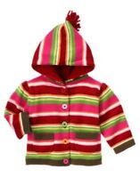 Gymboree Reindeer Frolic Stripe Hooded Cardigan Sweater 0 3 6 12 18
