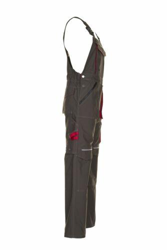 Planam Basalt Herren Latzhose oliv rot Modell 2833