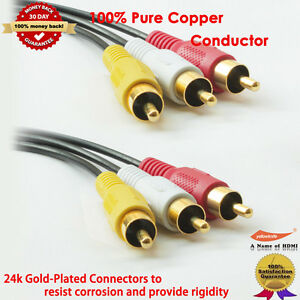 Gold-3-RCA-to-3-RCA-Composite-Video-Audio-Cable-M-M-12-FT-3-6-M