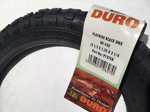 47-203 DURO 12 1//2 x 1.75 x 2 1//4 Junior Vélo Pneu Noir .