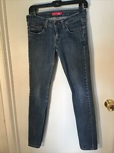 Womens-LEVIS-524-TOO-SUPERLOW-STRETCH-blue-denim-jeans-Size-5M