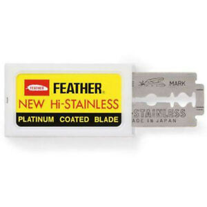 FEATHER-Hi-Stainless-Blades-DOUBLE-EDGE-Safety-Razor-Blades-Premium-Safety-DE-UK