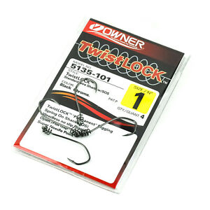 OWNER-Twistlock-5135-Weedless-Worm-Hook-Spring-Standard-Shank-4ct-PICK