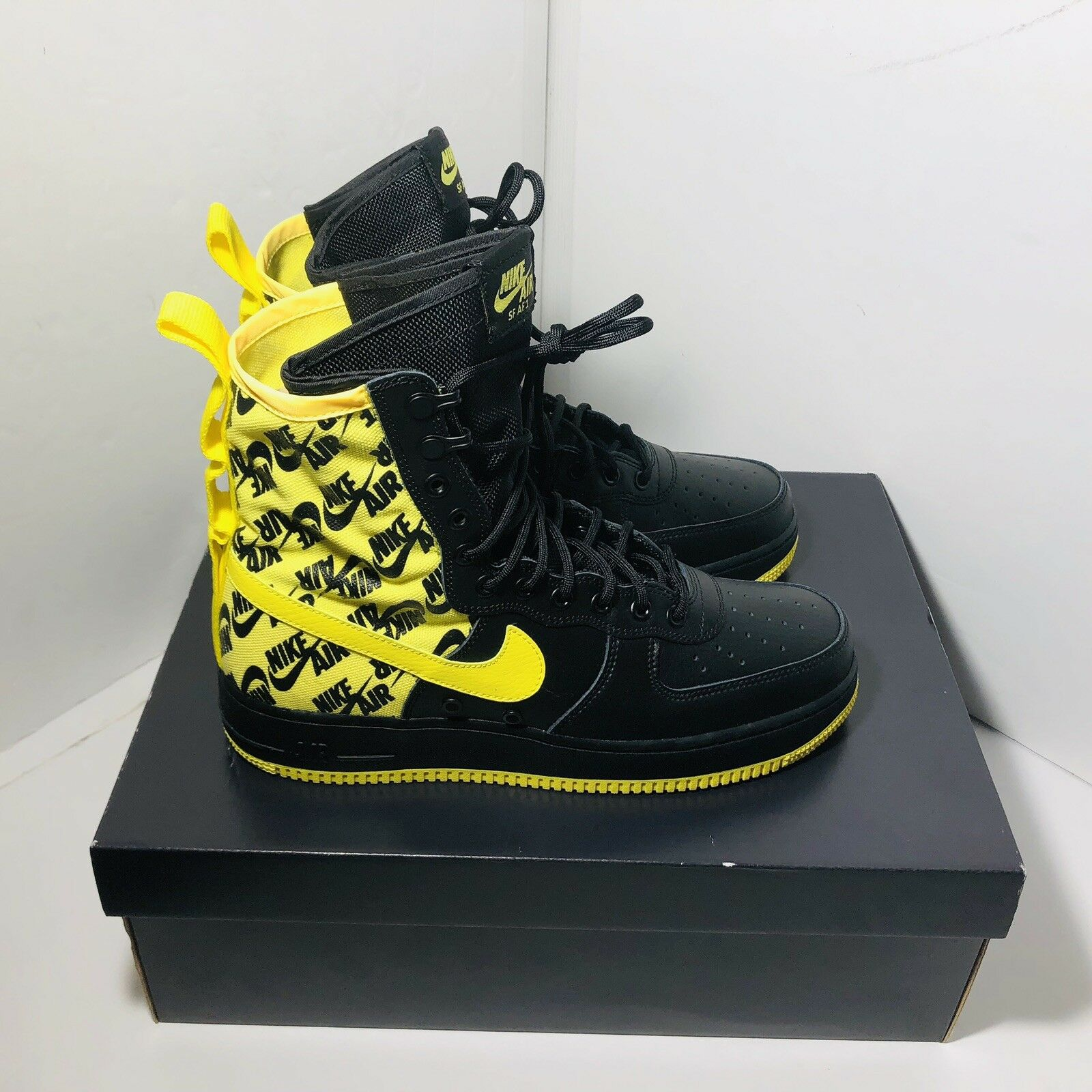 Nike SF AF1 Air Force One High Dynamic Yellow Black Size 9 AR1955-001