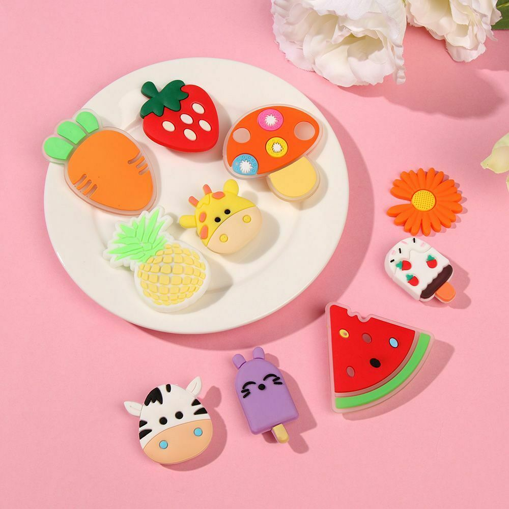 For Hole Shoes Charms Cartoon Flowers Decoration Buckle DIY Shoe Accessories