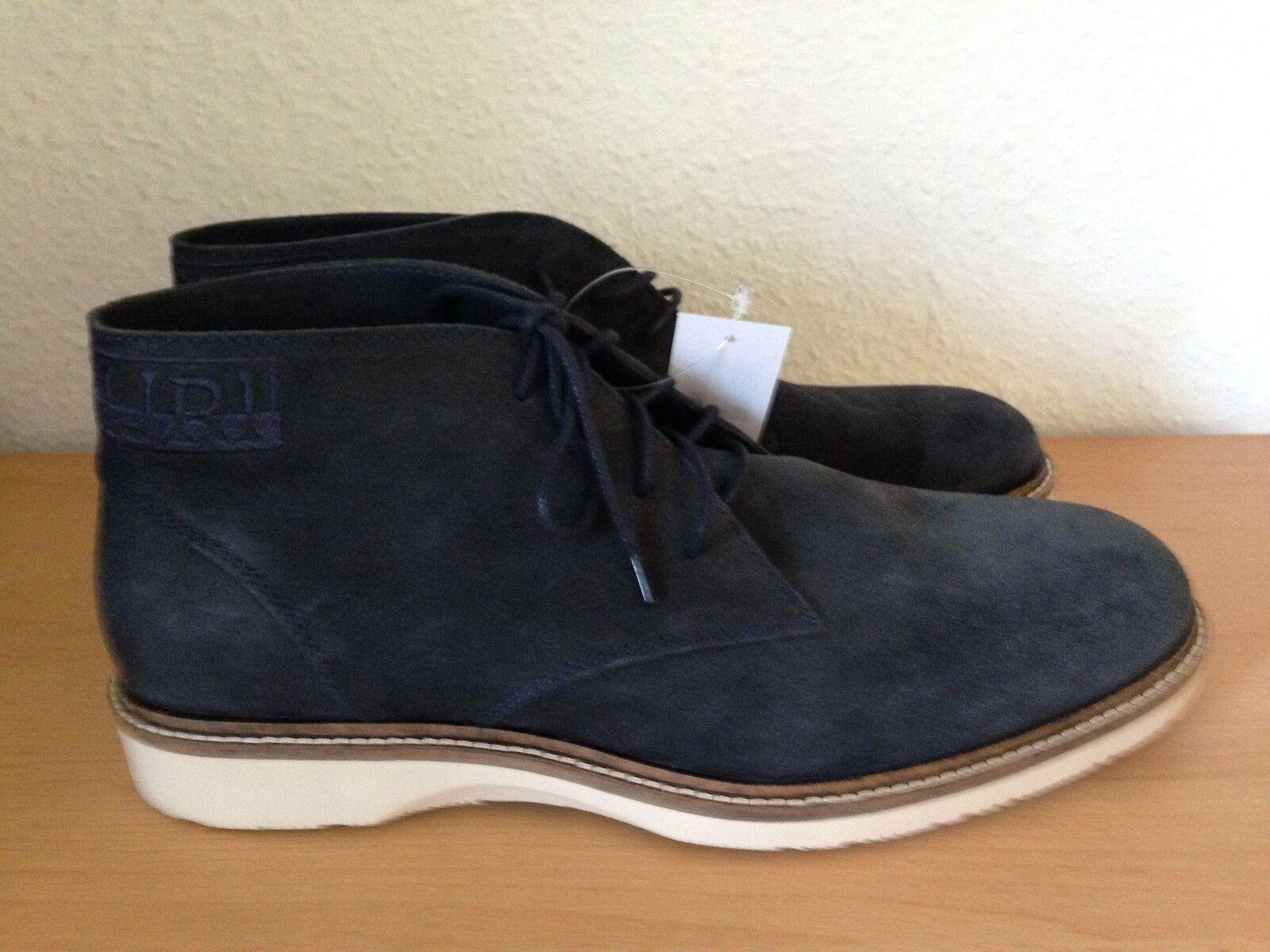 Napapijri Stiefeletten Boots Wildleder Gr 45 dunkelblau Neu Herrenschuhe Stiefel