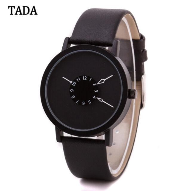 Fashion Women Japan Quartz Movement Leather Band Round Case Casual Wrist Watch