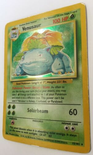 Pokemon Official Trading Cards Holo Rare Base Set 1 Wizards of the Coast WOTC