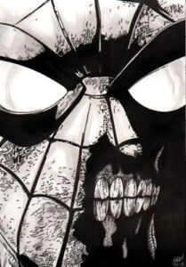 SPIDER-MAN-ZOMBIE-ORIGINAL-ART-SKETCH