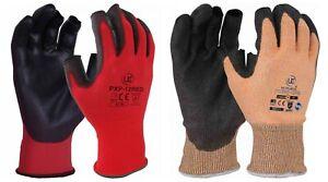 UCI Color Codificado Parcialmente sin Dedos Obra Seguridad Trabajo Guantes -
