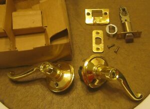 SCHLAGE-LS3-SOLID-BRASS-Handle-Set-USED-with-a-Box