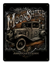 Moonshine Truck Metal Sign - Hand Made in the USA with American Steel