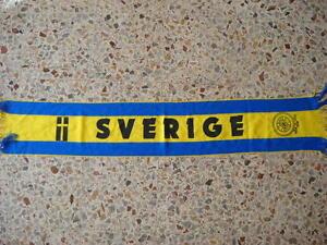 D1-Echarpe-Suede-Football-Federation-Association-Echarpe-Bufanda-Schal-Suede